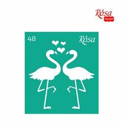 """Трафарет багаторазовий самоклеющийся, №48, 9х10см, Серія """"Love"""", ROSA TALENT"""