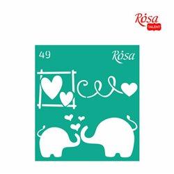 """Трафарет багаторазовий самоклеющийся, №49, 9х10см, Серія """"Love"""", ROSA TALENT"""