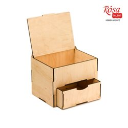 Шкатулка з ящиком і кришкою, фанера, 22х15х15см, ROSA TALENT