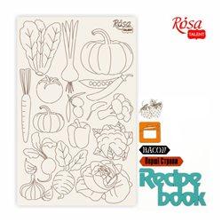 "Чипборд для скрапбукинга ""Recipe book"" 3, белый картон, 12,6х20 см, ROSA TALENT"