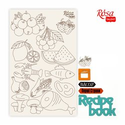 "Чипборд для скрапбукинга ""Recipe book"" 4, белый картон, 12,6х20 см, ROSA TALENT"