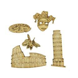 """Набір заготовок для декорування """"Італія"""", фанера, 5 шт"""