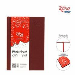 Блокнот A5 (14,8*21см), 100г/м, 96л., бордо, ROSA Studio