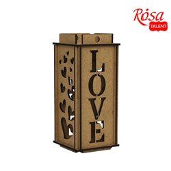 """Ліхтар """"Love"""", ДВП, 8х8х18,6 см, ROSA TALENT"""