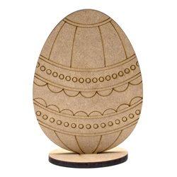 """Заготівля """"Яйце"""" 7, на підставці, МДФ, 14х10,5х0,6см, ROSA TALENT"""