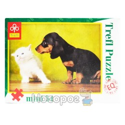 """Пазл """"Собачка и котёнок"""""""