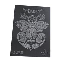Планшет для эскизов и зарисовок А3, 160г/м2, 30л.,черная бумага, Лилия Холдинг
