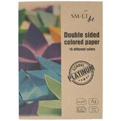 Цветная бумага (двусторонняя) Platinum А4, 150/м2, 16л, SMILTAINIS
