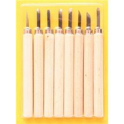 Набір різців по дереву, 8шт., В блістері, (11513), D.K.ART & CRAFT