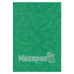 Фетр листковий (поліестер), 21,5х28 см, ембосінг, Зелений, Зебра, 180г/м2, ROSA Talent
