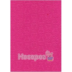 Фетр листовой ROSA Talent эмбосинг, розовый, сердца