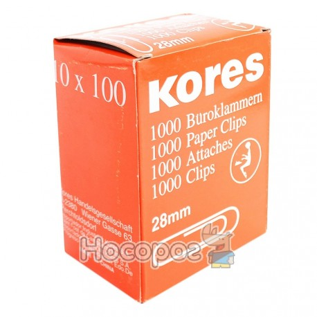 Скрепки Kores 28 мм