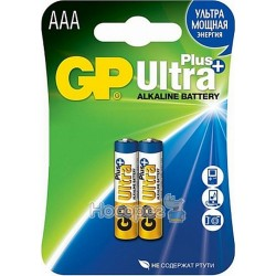 Батарейка мініпальчик лужна ААА GP Ultra Plus 24AUP-2UЕ2