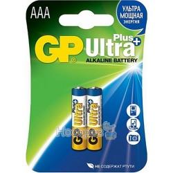 Батарейка минипальчик щелочная ААА GP Ultra Plus 24AUP - 2UЕ2