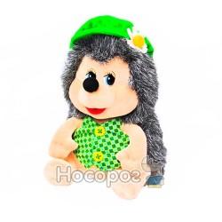Мягкая игрушка Ежик Яша в кепке с ромашкой