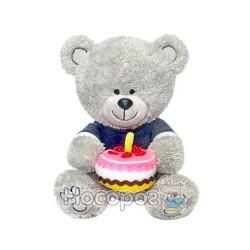 Мягкая игрушка Медвежонок Ники с тортом