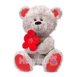 Мягкая игрушка Медведь с красным цветком