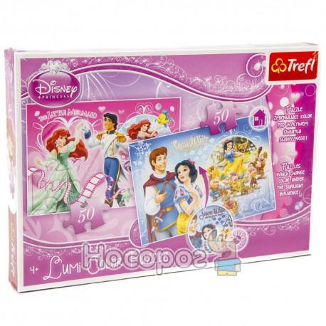 """Пазл Lumi Color """"Ариэль и Золушка"""" Disney Princess"""