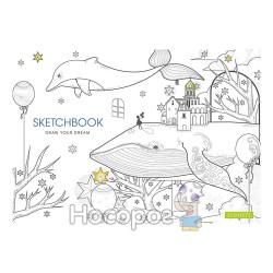 Альбом для рисования Школярик А4, 30 л. на склейке '' Star ''