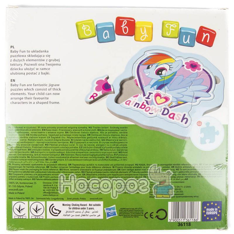 "Фото Пазл Baby FUN ""Rainbow Dash"" Hasbro, My Little Pony"