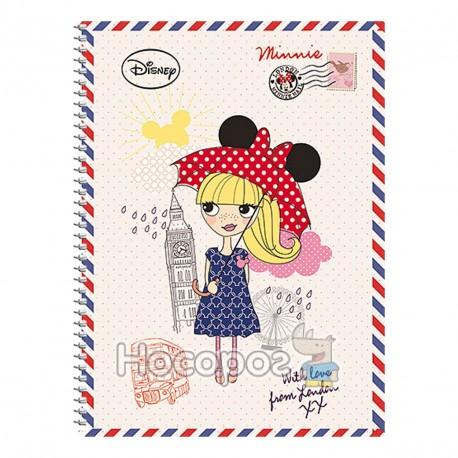Зошит Школярик А5/96 УФ лак вибірковий картон палітурний Disney Student (3/72)