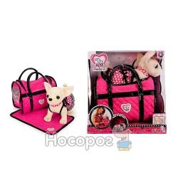 """Собачка CCL """"Чихуахуа. Розовая мечта"""" с сумочкой и ковриком"""