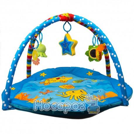 Коврик для малюка М 2121 83*83 см, карусель, дуги з іграшками (6)