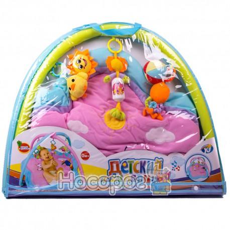 Коврик для малюка 898-10 В (брязкальця, підвіски, квіточки) (12)