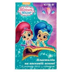 Пластилін восковий Kite Shimmer & amp; Shine SH19-087, 15 кольорів, 225 г