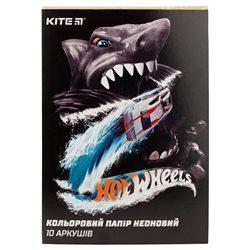 Бумага цветная неоновая Kite Hot Wheels HW19-252