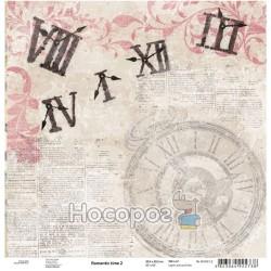 """Папір для скрапбукінгу ROSA Talent """"Romantic time"""" 2"""