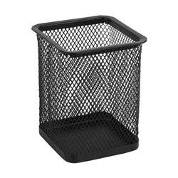 Подставка для ручек Axent, 80х80х100 мм, квадратная, металлическая сетка, черная