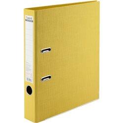 Папка-регистратор Axent Prestige+, A4, с двусторонним покрытием, корешок 5 см, желтая