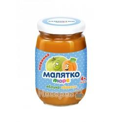 Детское пюре МАЛЯТКО яблоко-абрикос с сахаром 180мл