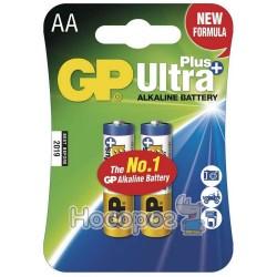 Батарейки пальчик щелочная АА GP Ultra Plus + 15AUP-2UЕ2