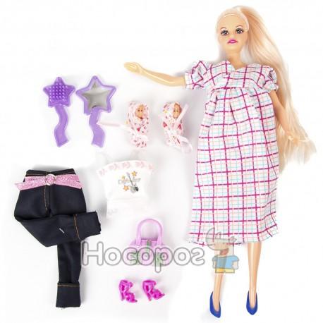 Лялька DEFA 8009 (вагітна з одягом, 2 дитини, аксесуари) (36)