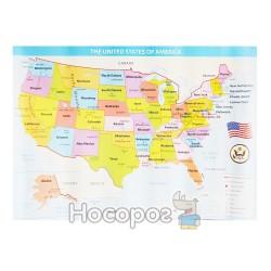Плакат Карта США