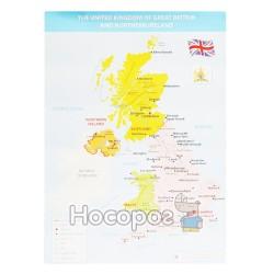 Плакат Карта Великобританії