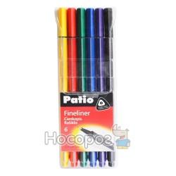 Ручка лайнер Patio TRIO 18548PTR набір 6 кольорів