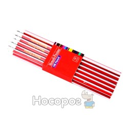 Олівці графітні з гумкою Memoris MF923158 сіро-червоний корпус
