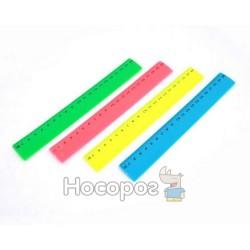 Лінійка MF2038-20 кольорова пластикова, 20 см,в індивідуальній упаковці