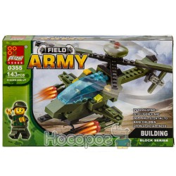 Конструктор В 1144212 Военный вертолет (143 детали)