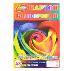 Картон цветной Колорит Зибнев двусторонний