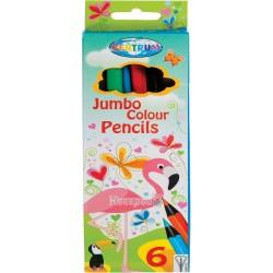 """Карандаши цветные Centrum """"Giraffe Jumbo"""" 6 цветов 86142"""