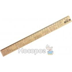 Линейка Мицар деревянная Алгебра 30 см (шелкография)
