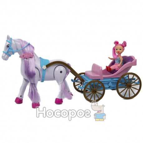 Карета ZYA-A 0980-1 (конячка ходить, лялька, музика) (24)