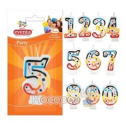 """Свічки EVENTA для торту""""цифри"""" 5"""