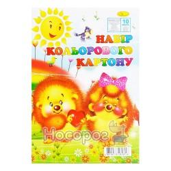 Картон цветной Апельсин КК-А4-10