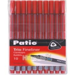 Лінер Тріо набір 10 шт, колір червоний