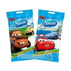 Влажные салфетки Smile Тачки 15 шт